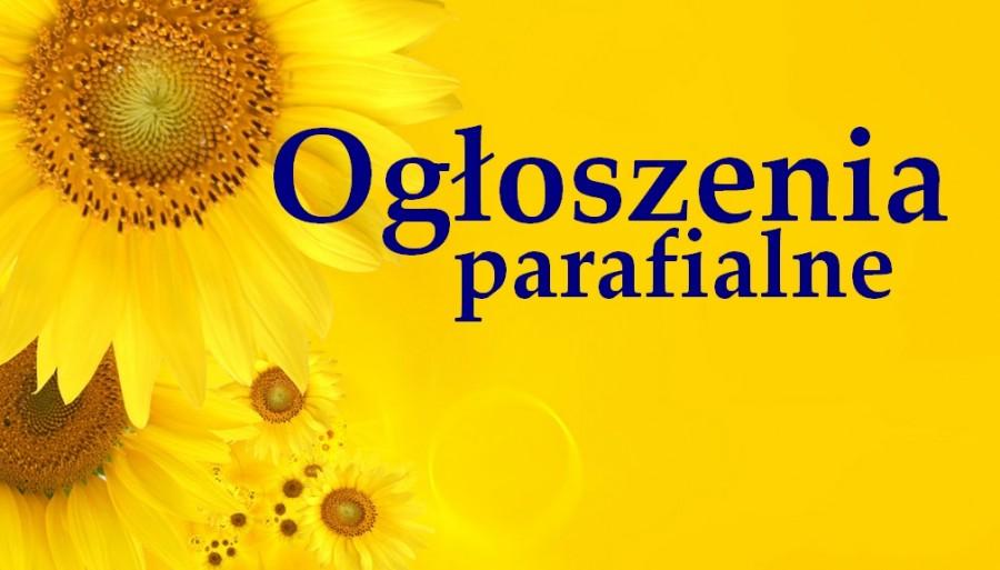 Ogłoszenia Duszpasterskie, 21 czerwca 2020 roku